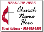 Style CH12 Church Sign Design