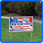 Click here for cheap campaign signs, wholesale campaign signs, campaign sign printers, campaign sign dealers, yard signs, and parking signs.
