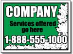 Style LC03 Lawn Care Sign Design