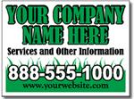 Style LC06 Lawn Care Sign Design