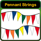 Design Custom Pennant Strings Online with Real Time Designer