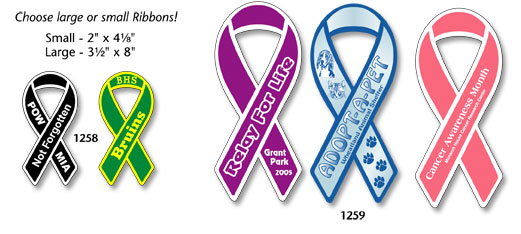 Custom Ribbon Magnets And Fundraiser Magnets - Custom awareness car magnet