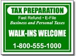 Style Tax05 Tax Sign Design