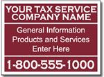 Style Tax10 Tax Sign Design
