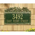Woodland Hummingbird Design Personalized Address Plaque