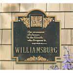 Monogramed Emerson Design Personalized Address Plaque