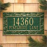 Pinecone Design Personalized Address Plaque