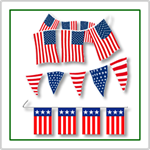 Americana Pennant Strings and Flags