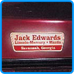 Auto Dealer Name Decals