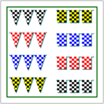 Checkered Flag Pennant Strings
