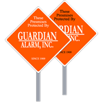Diamond Security Yard Signs, One or Two Color