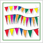 Fluorescent Pennant Strings and Fluorescent Pennant Flags