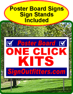 One Click Kits - Poster Board Yard Signs With Frames