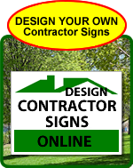 Contractor Signs Design Online
