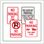 Parking Signs and No Parking Signs