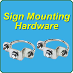Sign mounting brackets and screws