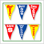 Stock Slogan Pennant Strings