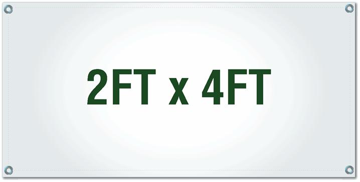 Custom Vinyl Banner Upload Your 2ft X 4ft Banner