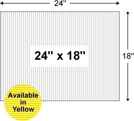 Corrugated Plastic Yard Sign Blanks 24 X 18 Blank