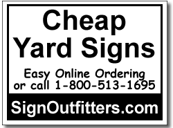 Cheap Yard Signs 100 Signs And Stakes 24x18