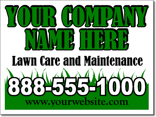 Lawn care and maintenance yard signs 25 signs and stakes for Lawn care and maintenance