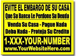 real estate yard sign template short sale template in spanish