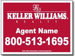 Keller Williams Real Estate Yard Sign Design One Click Kit