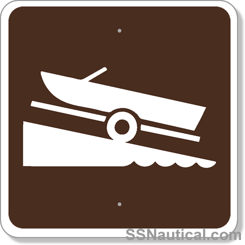 Boat Ramp 24x24 Marine Sign