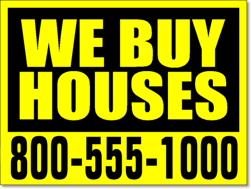 We Buy Houses Signs 100 Signs And Stakes 24x18