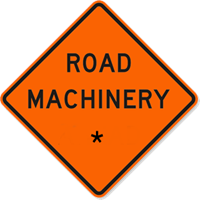 Road Machinery with Custom Text 36 x 36