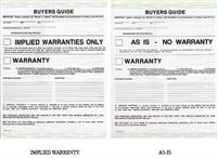 Auto Dealership Buyers Guide Forms