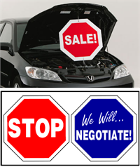 Under The Hood Twisting Sign - Stop / We Will Negotiate