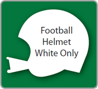 Football Helmet Yard Sign - Blank