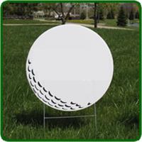 Golf Hole Sponsor Sign Small Golf Ball Blank