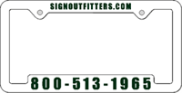 License Plate Frame #492 - White