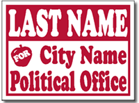 Political Yard Sign Design PSSW9 - One Click Kit - School Board Election