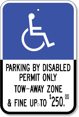 Ada parking signage height requirements