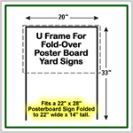 U-Frame Sign Wires for 22'' x 14'' yard signs.