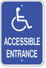Accessible Entrance With Handicap Symbol