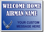 Customized Welcome Home Airman Air Force Sign