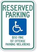 Alabama Handicapped Parking Sign