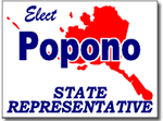 Alaska Political Yard Sign With Stands