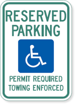 Arkansas Handicapped Parking Sign