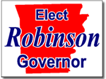 Arkansas Political Yard Sign With Stands