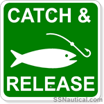 Catch and Release - 12x12 Marine Sign
