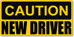 Caution New Driver Magnetic Car Sign