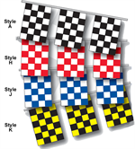 Checkered Flag Pennant Strings - Rectangle