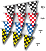 Checkered Flag Pennant Strings - Triangle