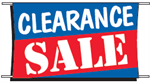 Clearance Sale Banner - 3 x 5 Slogan