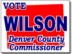 Colorado Political Yard Sign With Stands